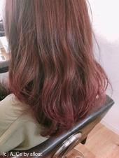 秋カラー♡ベリーピンク グラデーションカラー【yー505】