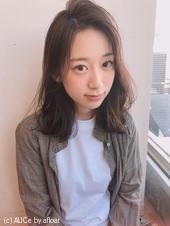 かきあげロブ  ニュアンスパーマ【yー533】