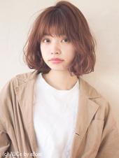 くせ毛風アンニュイパーマ ツヤ髪ピンクベージュ M-63