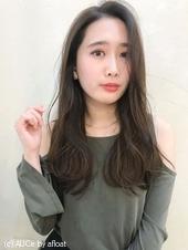 大人女性に♡流しバング 毛先デジタルパーマ M-206