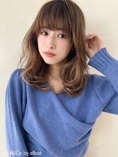 ひし形セミディ♡大人可愛いデジタルパーマ M246