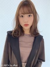 毛先ニュアンスパーマ 小顔バングM323