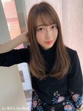 女子アナ風大人セミディ【ラテグレージュ】U-211