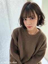 小顔ウェーブミディ【ラベンダーアッシュ】U-252