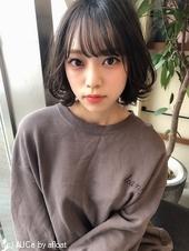 小顔ひし形ボブ【ラベンダーアッシュ】U-257