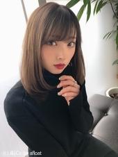 女子アナ風清楚セミディ【シナモンブランジュ】U-310