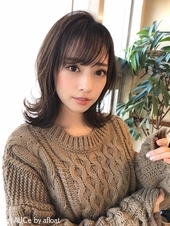 女子アナ風ひし形セミディ【シナモンブランジュ】U-330