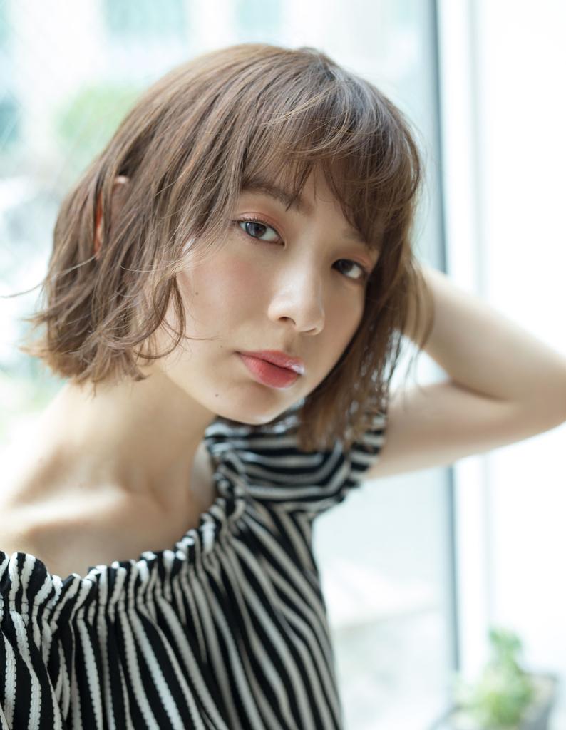 【若井】小顔半熟パーマボブ