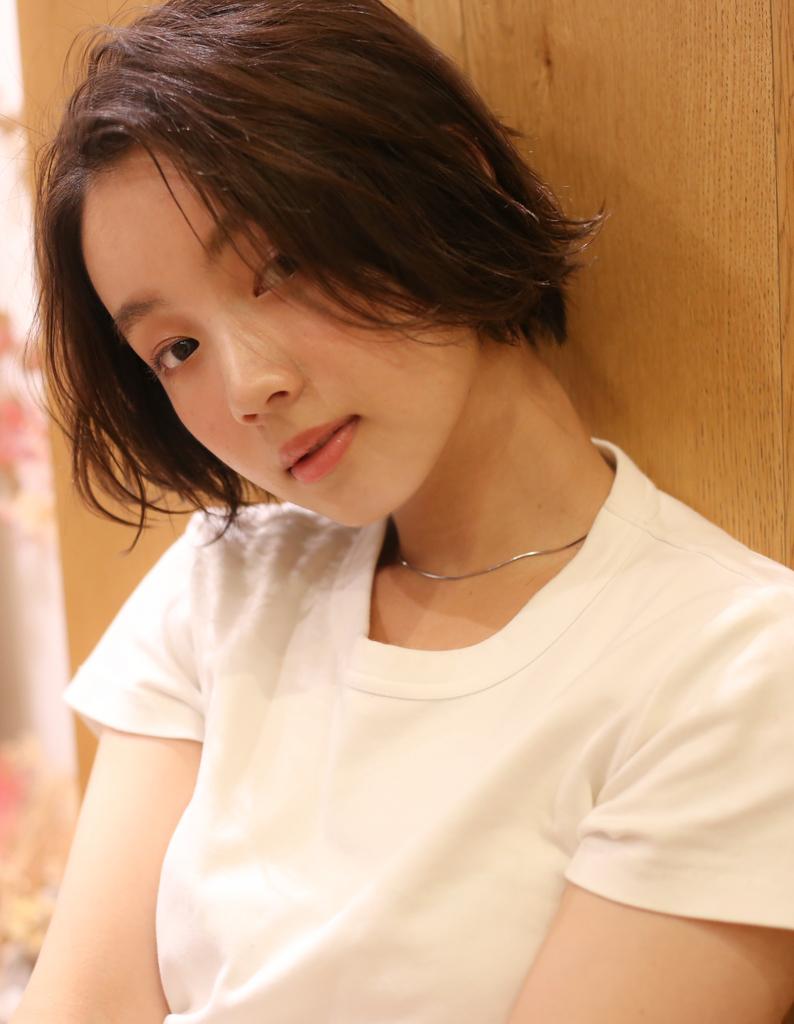 Rui顔まわり似合わせ×前髪長めショートウェーブボブ