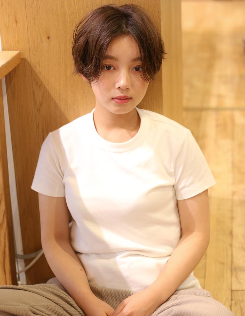 Rui秋の抜け感オシャレショート☆長め前髪☆えりあし短め