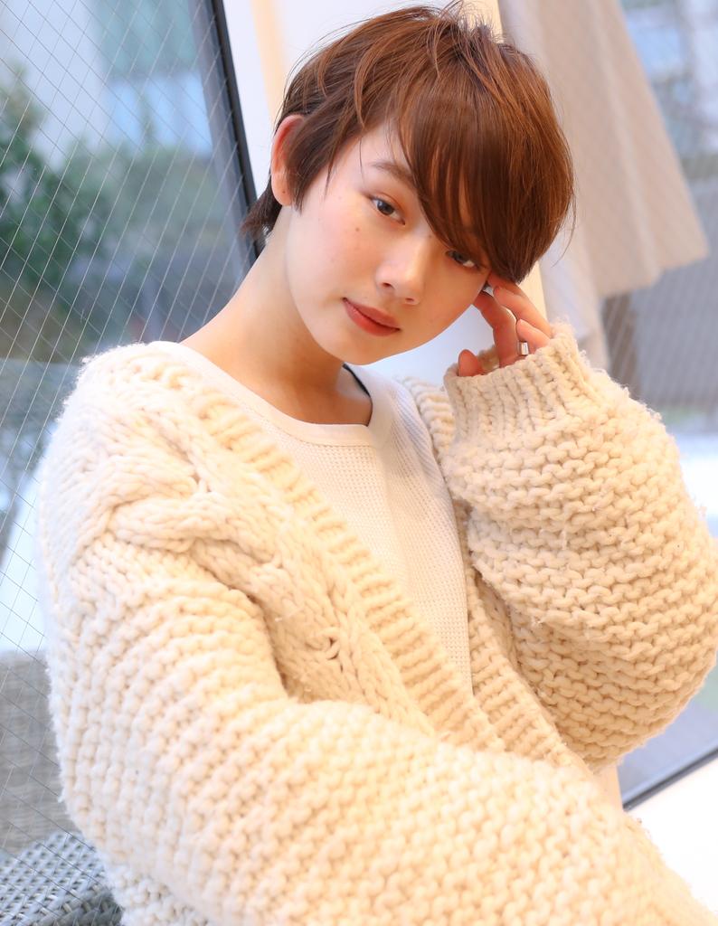 【#Ruiショート】大人可愛いアンニュイショート×長め前髪×小顔