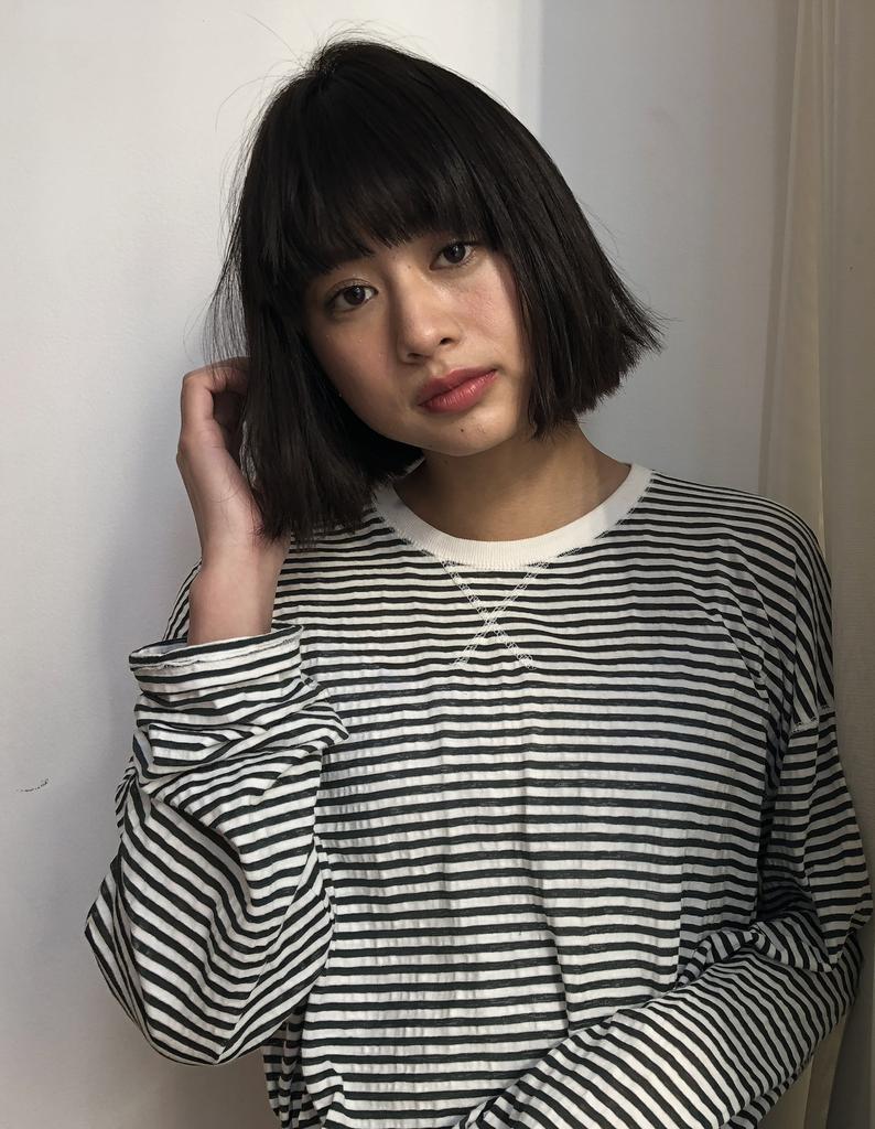 【鈴木】顔の形に合わせた切りっぱなしボブ
