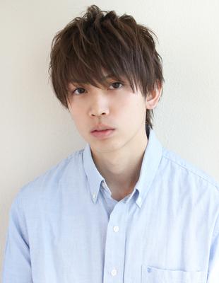 メンズビジネスミディアム髪型(NY-81)