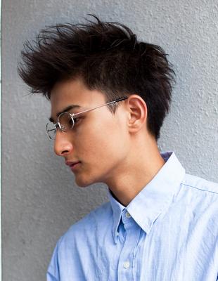 メンズビジネスショート◎メガネスーツが似合う髪型(NY-101)