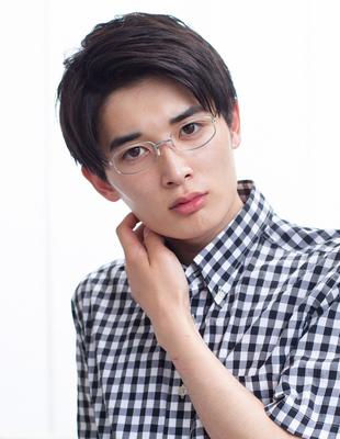 メンズビジネスショート◎メガネが似合う髪型(NY-102)
