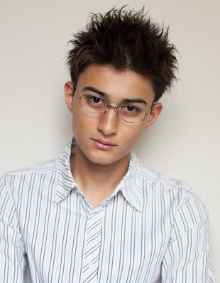 メンズビジネスショート◎メガネが似合う髪型(NY-107)