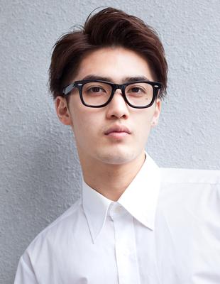 メンズビジネスメガネが似合うショート◎髪型(NY-114)