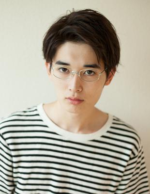 メンズメガネが似合うビジネスショート◎髪型(NY-118)