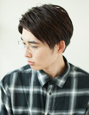 メンズビジネス好感度メガネ◎髪型(NY-135)