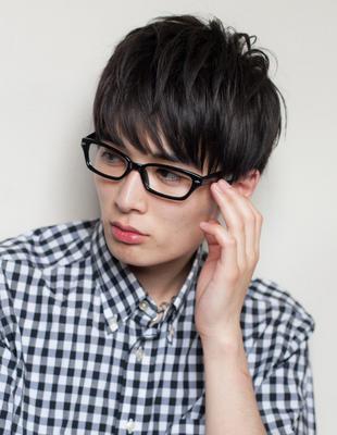 メンズビジネス好感度メガネ◎髪型(NY-136)