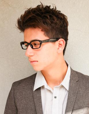 メンズ好感度30代メガネが似合うビジネスショート◎髪型(NY-143)