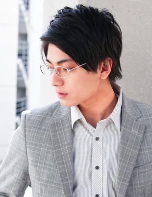 メンズ ビジネス高感度◎メガネが似合う髪型(NY-155)
