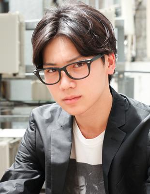 メンズビジネス 好感度メガネが似合う◎髪型(NY-159)