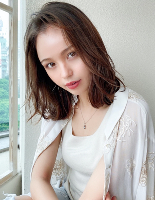 AFLOAT/矢田菜津紀/表参道/レイヤーくびれセミディ/ブラウン(NY-204)