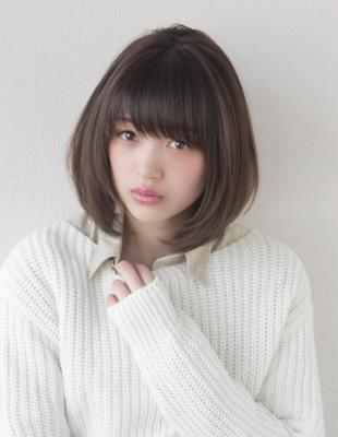 小顔ナチュラルひし形ミディアムレイヤー(TO-04)