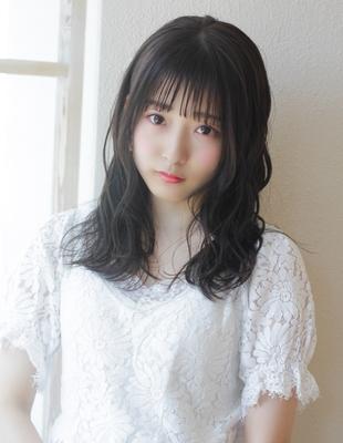 暗髪、黒髪でもふんわり!ぱっつんシースルーバング(TO-33)