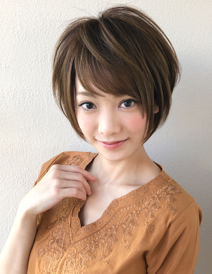 大人かわいい小顔ひし形ショート(SH−21)