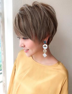 30代40代髪型ボリュームシルエットショート(SH−122)