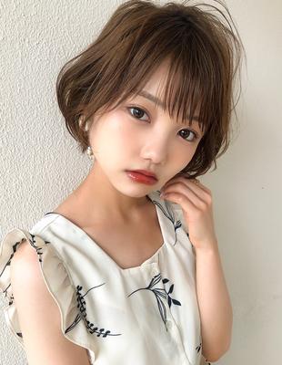 20代30代髪型大人かわいいショートボブ(SH−135)