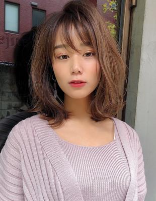 20代30代髪型大人かわいいひし形ヘア(SH-143)