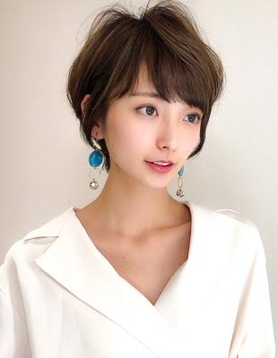 30代40代髪型小顔ひし形ふんわりショート(SH ~146)