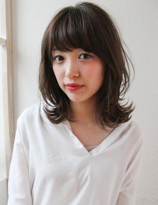 大人かわいい小顔グレージュミディアムヘアスタイル(SR,8)