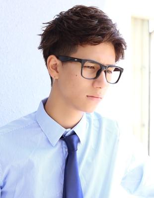 好印象ビジネスアップバングショート髪型(NS-020)