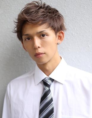 メンズ好感度爽やかビジネス刈り上げショート人気スーツ◎髪型(NS-049)