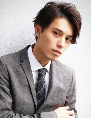 メンズ好感度大人ビジネス刈り上げショート人気スーツ◎髪型(NS-052)