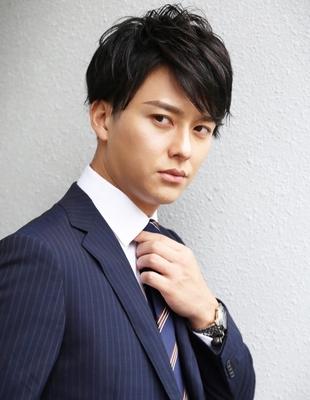 メンズ好感度大人ビジネス刈り上げショート人気スーツ◎髪型(NS-054)