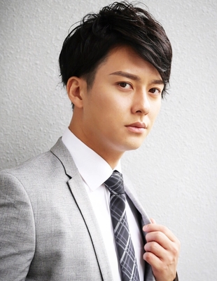 メンズ好感度大人ビジネス刈り上げショート人気スーツ◎髪型(NS-058)