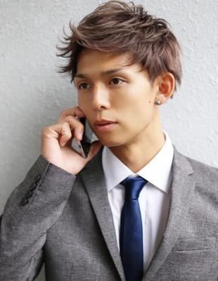メンズ好感度爽やかビジネス刈り上げショート人気スーツ◎髪型(NS-060)