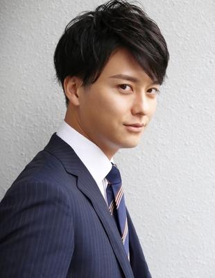 メンズ好感度爽やかビジネス刈り上げショート社会人人気◎髪型(NS-063)