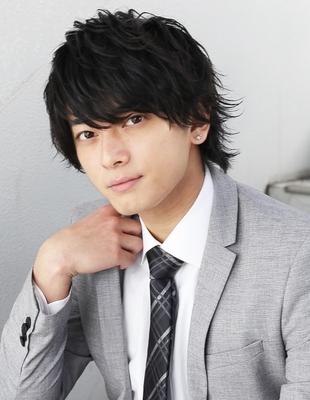 好印象メンズパーマビジネスウルフ人気◎長め髪型(NS-074)