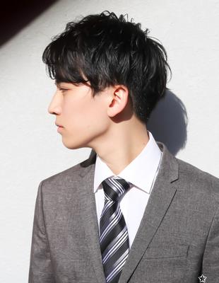 メンズ好印象社会人ビジネス刈り上げショート人気スーツ◎髪型(NS-217)