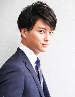 メンズ好印象社会人ビジネス刈り上げショート人気スーツ◎髪型(NS-219)