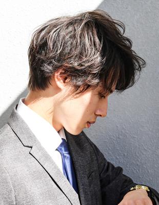 好印象メンズ 髪型 パーマ モテる 人気大人ビジネスヘア【NS-236】
