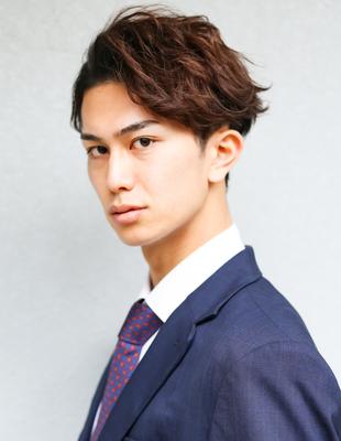メンズ 髪型 ビジネス 30代 パーマ(NS-251)