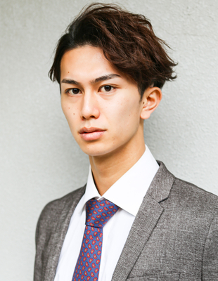 メンズ パーマ  ミディアム 髪型(NSー254)