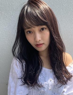 黒髪でもゆるふわレイヤーカット♪(MY-04)
